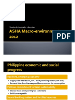 Philippine Hospitality Education Macro-Environment 2012