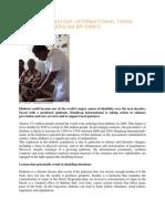 Diabetes Handicap International Takes Action