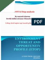 Swot and Etop Analysis