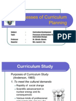 Curriculum Development Report