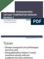 Software Pengkonversi Satuan Temperatur Dengan Bahasa c