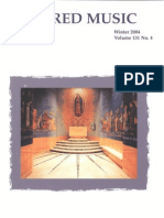 Sacred Music, 131.4, Winter 2004; The Journal of the Church Music Association of America