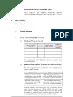 London Standard Platform Form 2009
