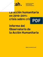 La acción humanitaria en 2010-2011