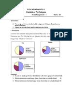 Statistical Techniques Jan 2012- HA1 & HA 2