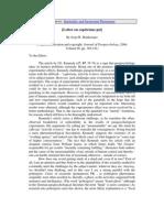 Joop M. Houtkooper- [Letter on capricious psi]