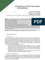 CONTEXTUL DECIZIONAL ÎN ORGANIZAŢIILE DIN ROMÂNIA
