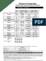 School of Computing 2011 USD & RM Fees