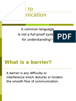 Barriers to Communication!