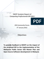 OSS Community Forum Regarding Proposed BCPM2011 SWOT Slide