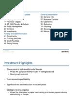 Investor Presentation 3Q 2010 - M Real