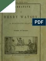 Henry Watson--Narrative of Henry Watson, A Fugitive Slave (1848)