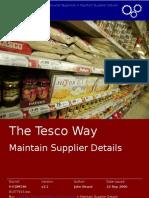 1 Maintain Supplier Details