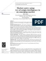 Market Entry Using Country of Origin Intelligence in an Emerging Market