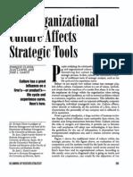 How Organizational Culture Affects Strategic Tools