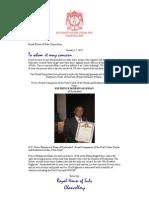 15.01.2012 Andres Linholm. H.H. Prince Mohsin Ali Khan-Royal Companion of the Pearl Collar
