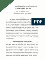 Preparations for First Balkan Alliance 1861 1864 Sotirovic