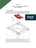 Analiza Statica a Mecanismului de Ridicat Tip Cric Cu Parghii