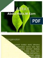 ARRAY Pada Bahasa C