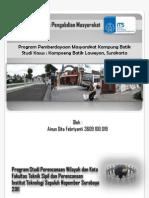 Pemberdayaan Masyarakat Kampung Batik Laweyan Surakarta