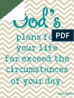 God's plans