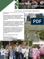 lettre hortibus voyages printemps 2011