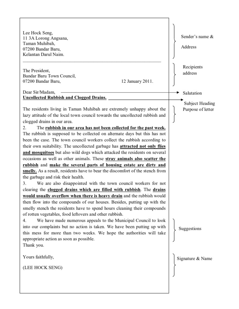 complaint letter example essay Here's a sample letter to help you draft your own complaint about a product or service.