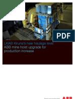 LKAB Kiruna's new haulage level ABB mine hoist upgrade for production increase