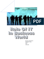 Role of IT in Bussiness Syn