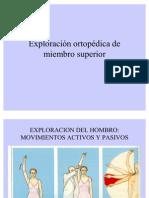 8-4 Exploración ortopédica de miembro superior