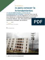 LEY DE ARRENDAMIENTOS