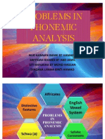 Problems in Phonemic Analysis
