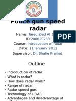 Radar Speed Gun