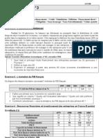 Devoir n°3 Les activités économiques Le financement 08 09