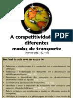 1.1- A Competitividade Dos Transportes