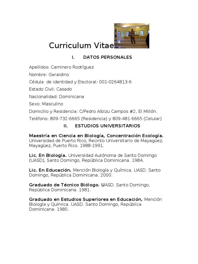 Curriculum Geraldino