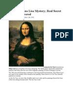 Da Vinci Mona Lisa Mystery