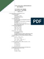 2004 Chimie Locala Subiecte Clasa a X-A 0