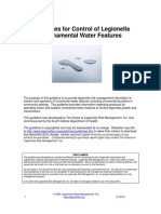 Guidelines for Control of Legion Ella in Water Features 122905 Updated