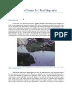 Magnetic Platforms for Reef Aquaria