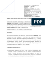Contestacion de Demanda - Direccion Regional de Trabajo (Servipipa s.r.l.)