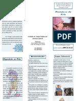 Vaga de Frio - Folheto