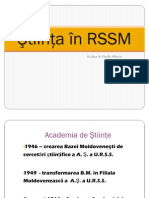Ştiinţa în RSSM