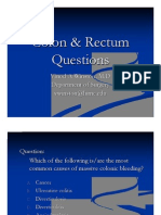 Colon & Rectum Questions Aug 2008