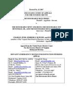 Perry et al v. Judd et al Motion For Injunction Pending Appeal