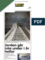 Jorden går inte under i år heller - Nyheter - Aftonbladet