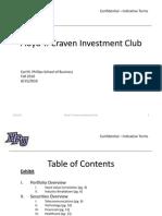 Investment Club Presentation