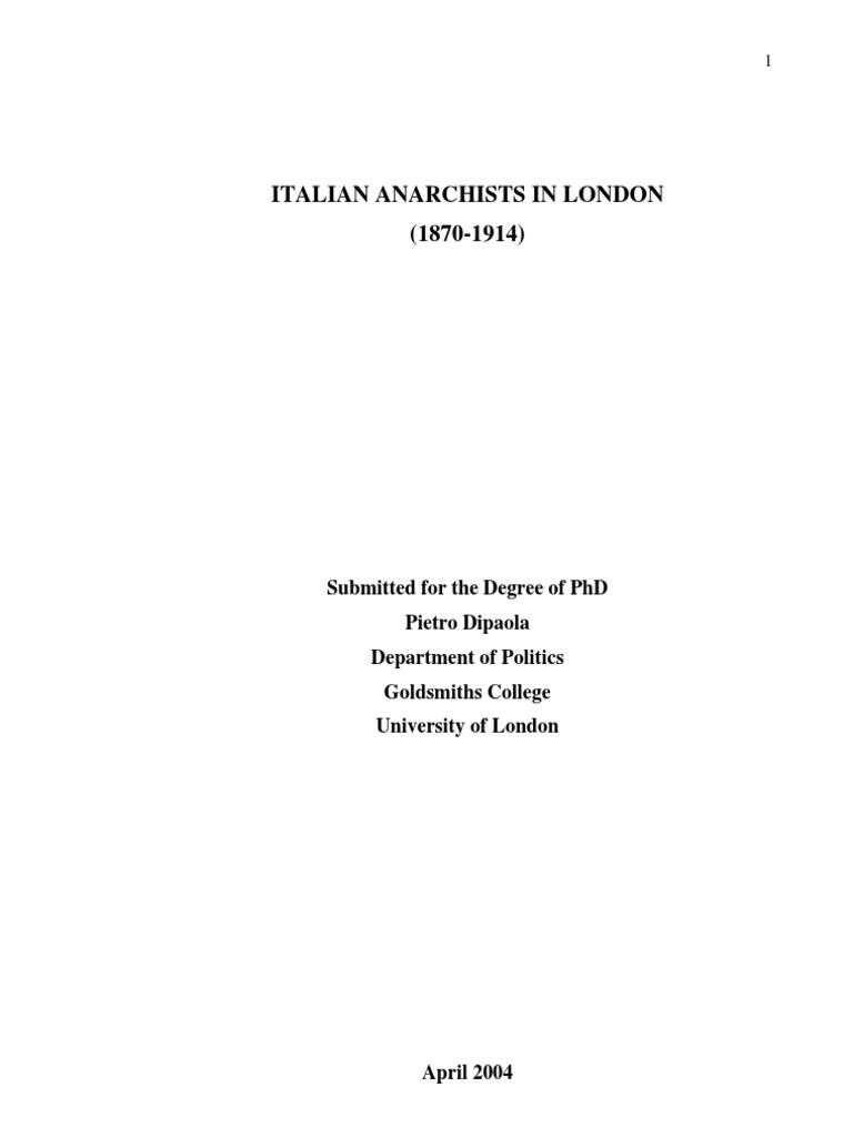 Giovannetti Mobili Roma Lazio pietro dipaola - 2004 - italian anarchists in london 1870
