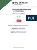 Adaptive Behavior 2000 Breazeal 49 74