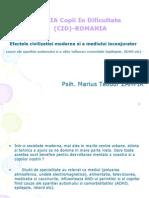Influenta Mediului Inconjurator Si a Civilizatiei Moderne Fundatia CID 2011